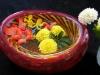 The Art of Flower arranging in a John Geci bowl.